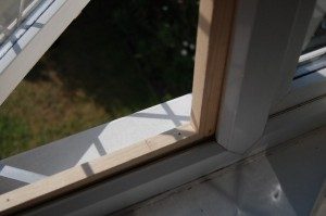 Save Our Earth Blog - The assembled frame in the window